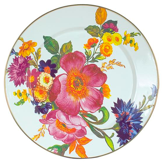 Flower Market Charger/Plate White