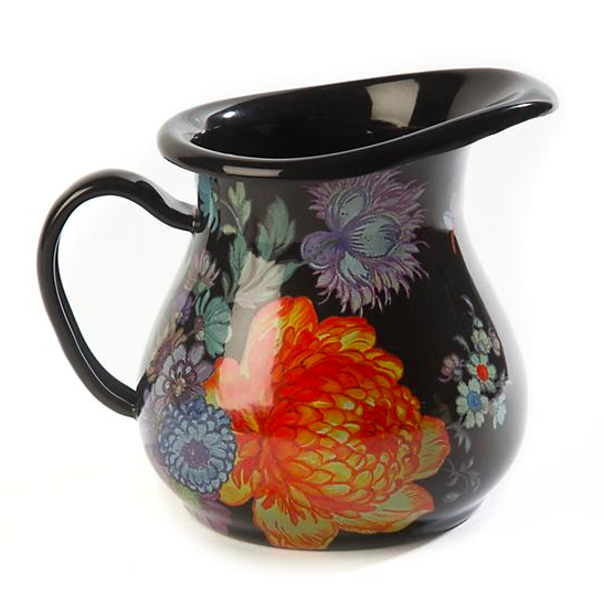 Flower Market Creamer - Black