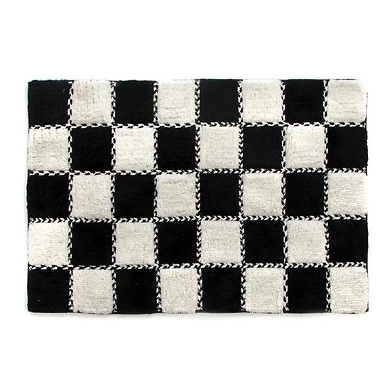 Covent Square Bath Rug - Black & White