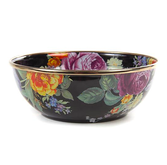 flower market everyday bowl- black