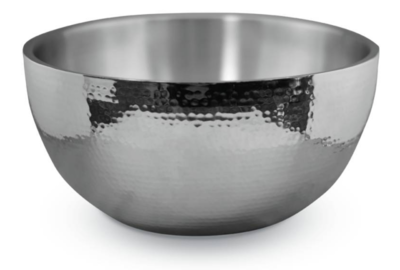 4qt Hammered Double Wall Bowl