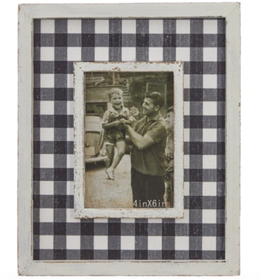 """12"""" Checked Picture Frame #3959062"""