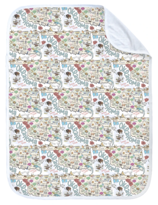 Oklahoma Map Baby Blanket - ORGANIC COTTON