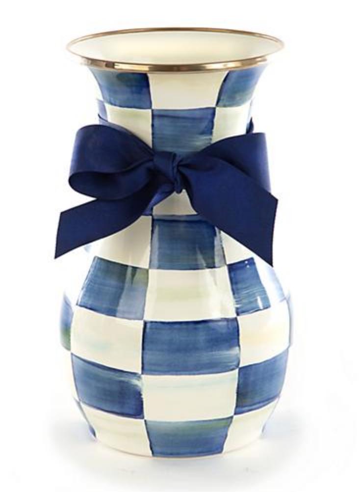 Royal Check Vase - Tall