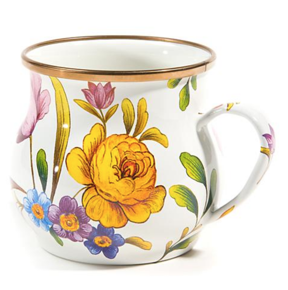 Flower Market Mug - White