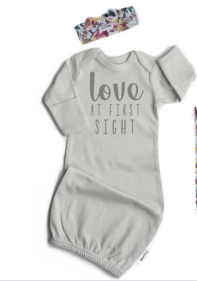Love at First Sight Gown Grey & Headband
