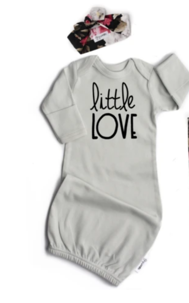 Little Love Gown Light Grey & Headband
