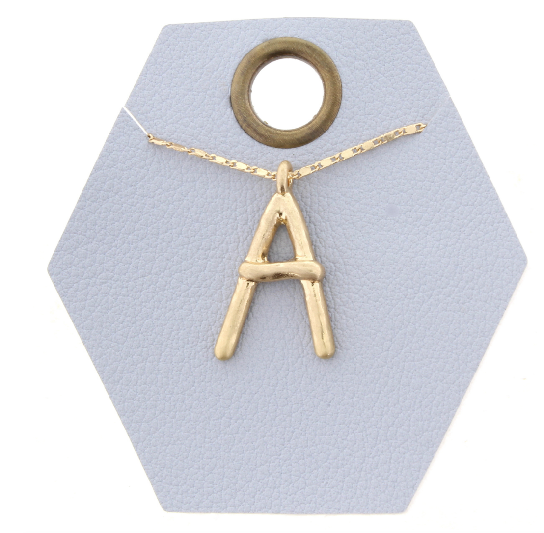 Gold Chain Initial Necklace