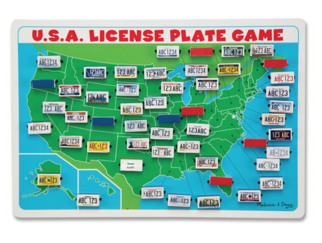 USA License Plate Puzzle