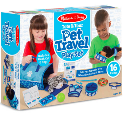 Tote & Tour Pet Travel Play Set #8541