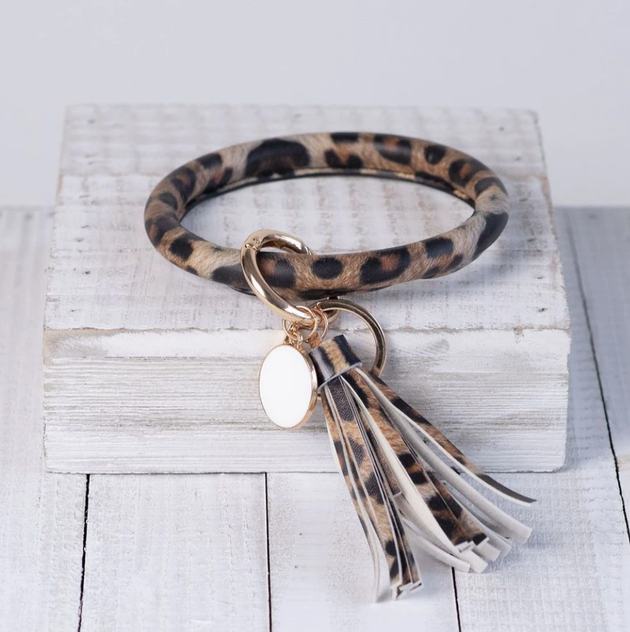 Halo Tassel Bracelet Keychain