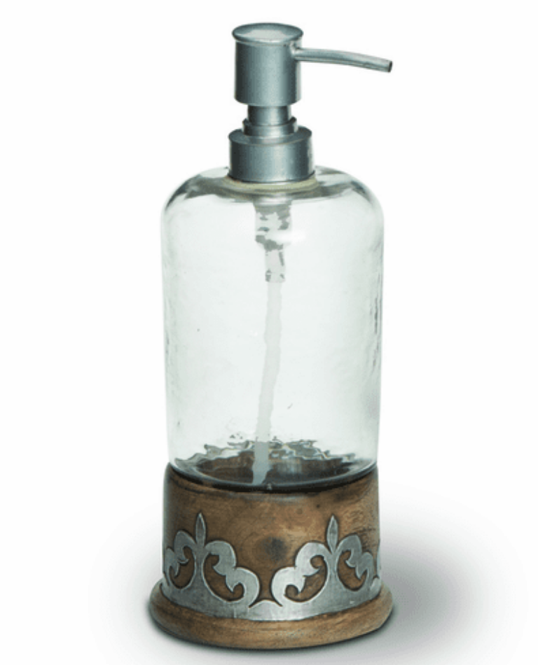 Wood/Metal Soap Dispenser #92863