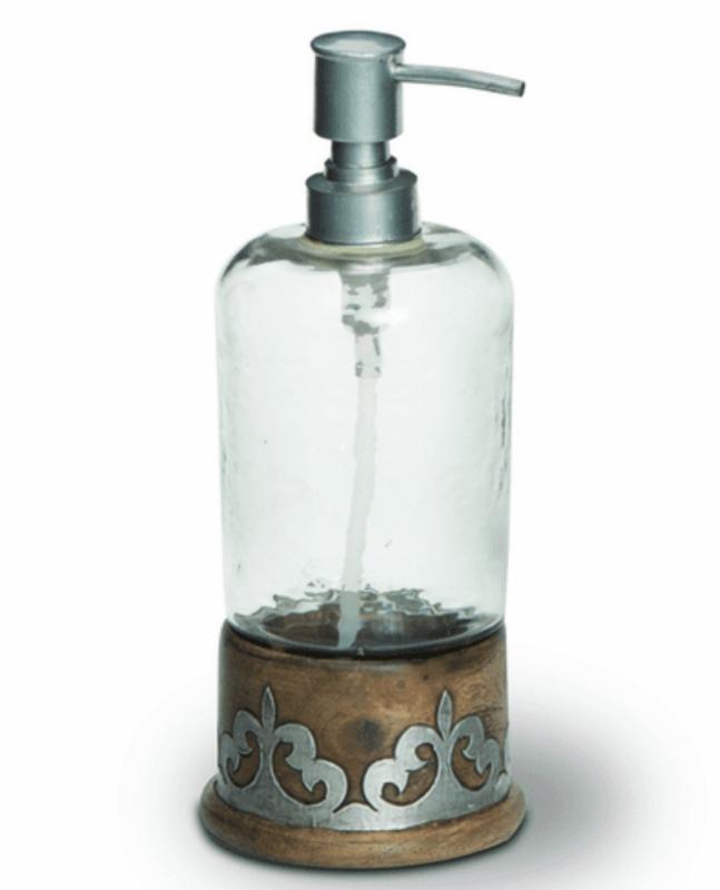 Wood/Metal Soap Dispenser #92863