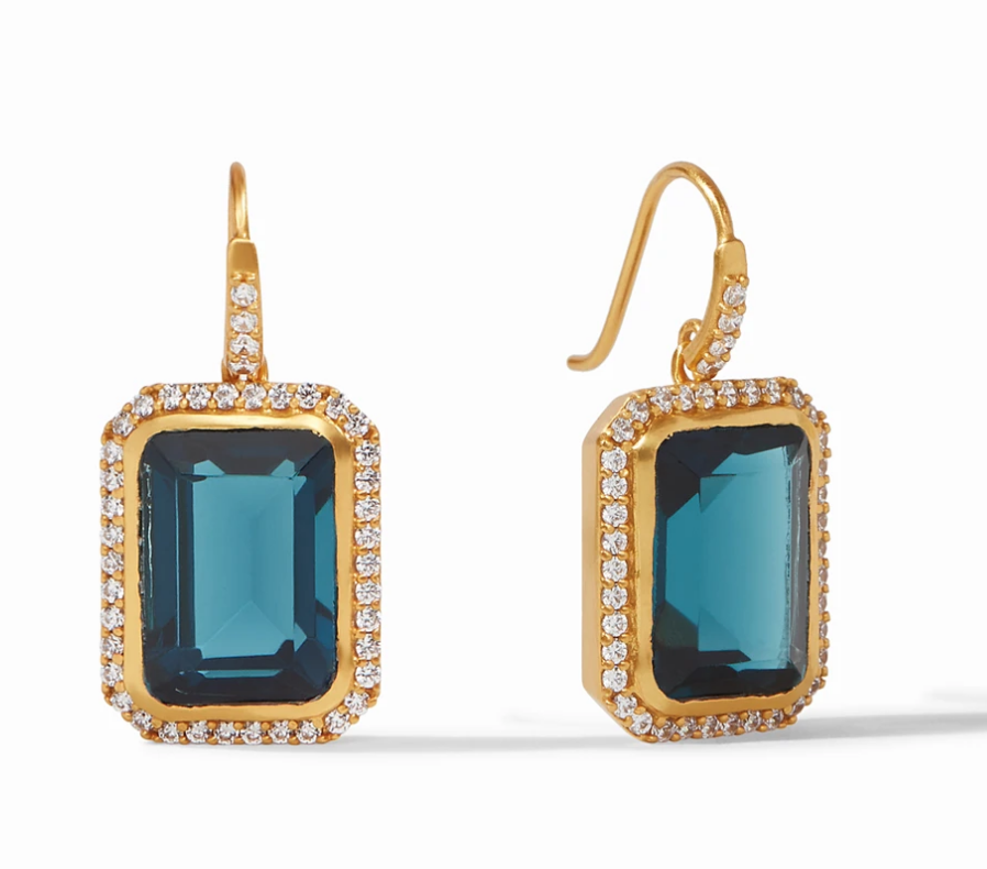 ER574GICA00 - Clara Luxe Earring Gold Clear Chalcedony