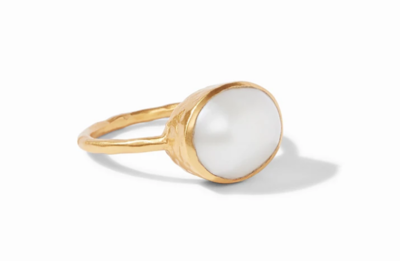 Honey Stacking Ring Gold Shell Pearl Size 6 R142GPL - 6
