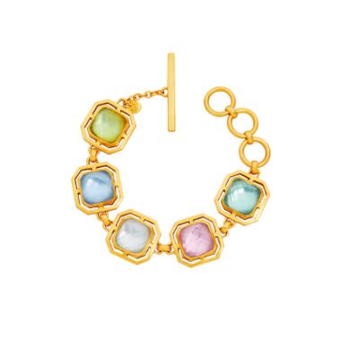 BL132GML00 - Geneva Bracelet Gold Iridescent Chalcedony