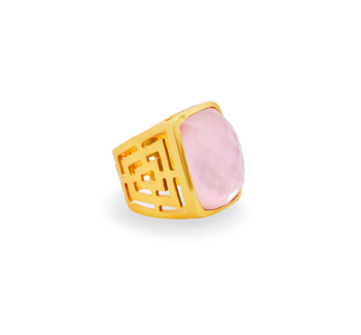 Geneva Statement Ring Gold Iridescent Rose Size 8/9 R141GIPK