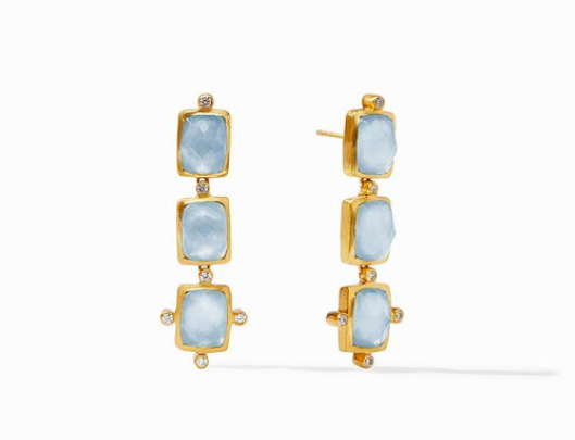 ER561GICA00 Clara Tier Earring Light Blue