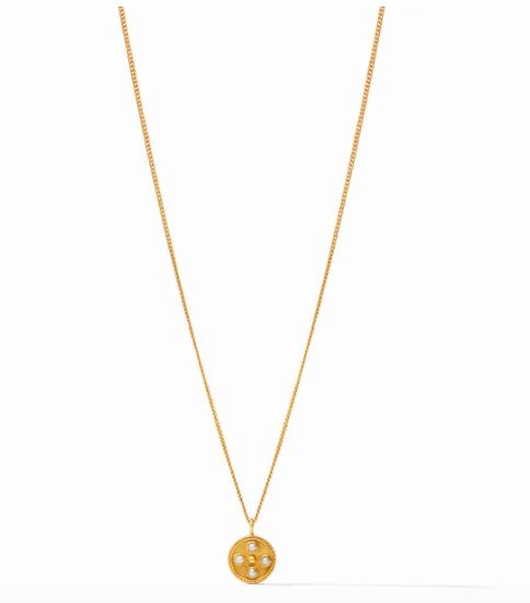 Paris Charm Necklace Gold Pearl N333GPL00