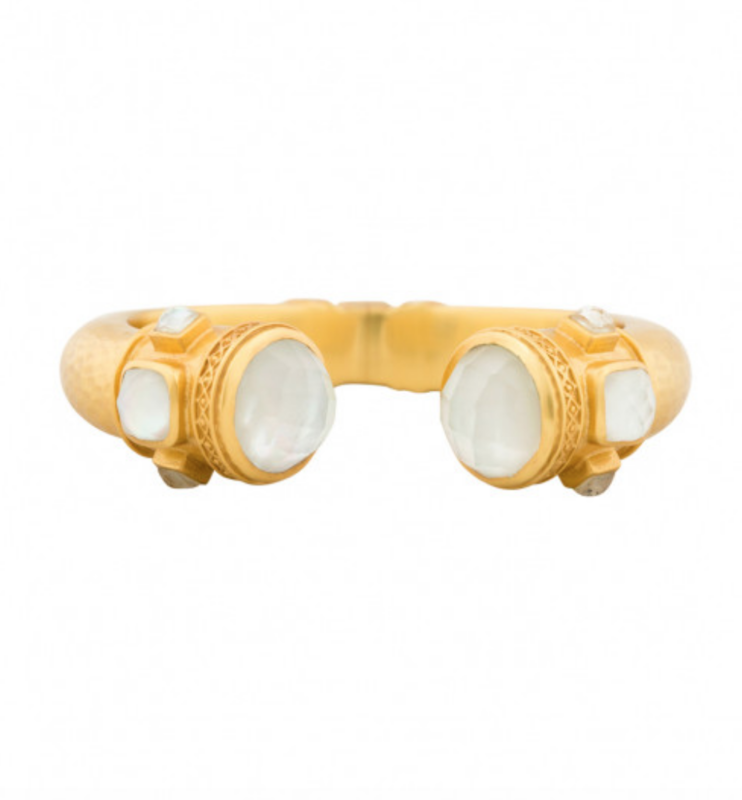 C080GIRC00 Catalina Hinge Cuff Gold Iridescent Clear Crystal w/ Iridescent Clear Crystal Accents