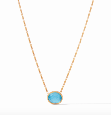 N338GITU00 Verona Solitaire Necklace Turquoise