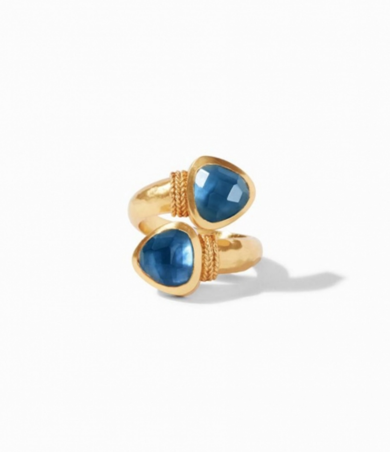 R145GIAB-7 Paris Duet Ring Azure Size 7