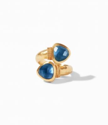 R145GIAB-7 Paris Duet Ring Azure Size 7