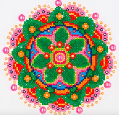 Diamond Dotz Kit Flower Mandala 9x9.8