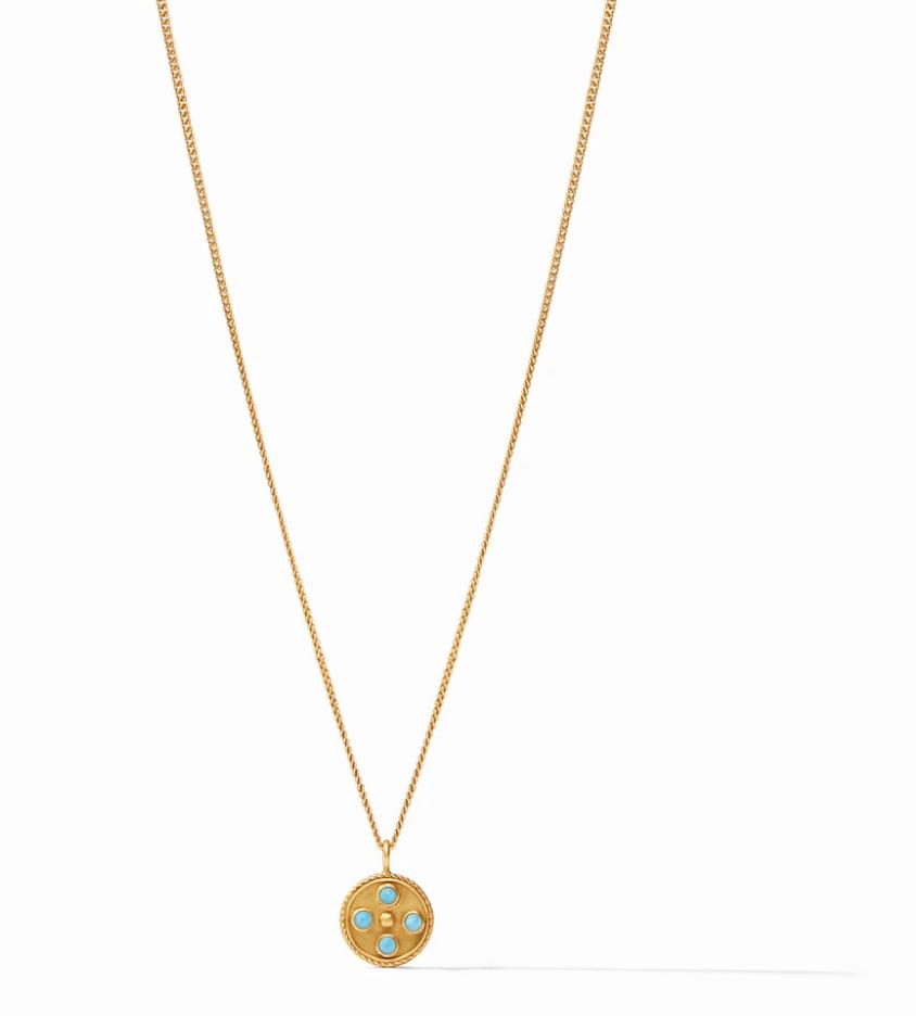 Paris Charm Necklace Turquoise Blue N333GITU00