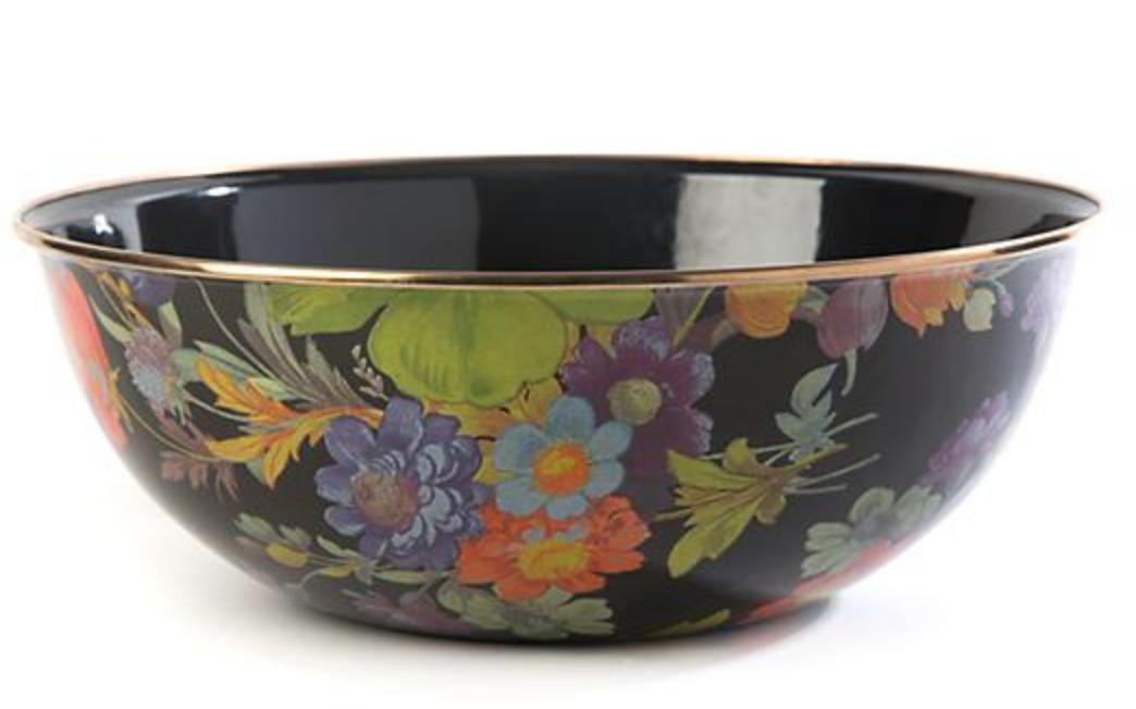 Flower Market Extra Large Everyday Bowl - Black