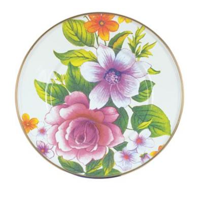 Flower Market Salad Desert Plate - White