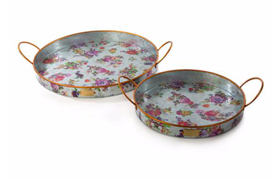 Flower Market Outdoor Trays - Set of 2