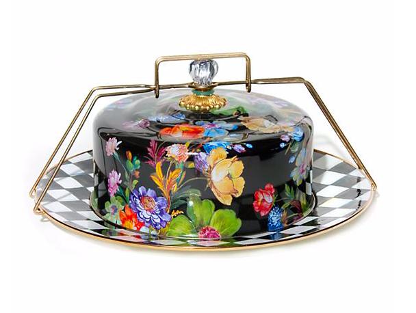 Flower Market Cake Carrier- Black