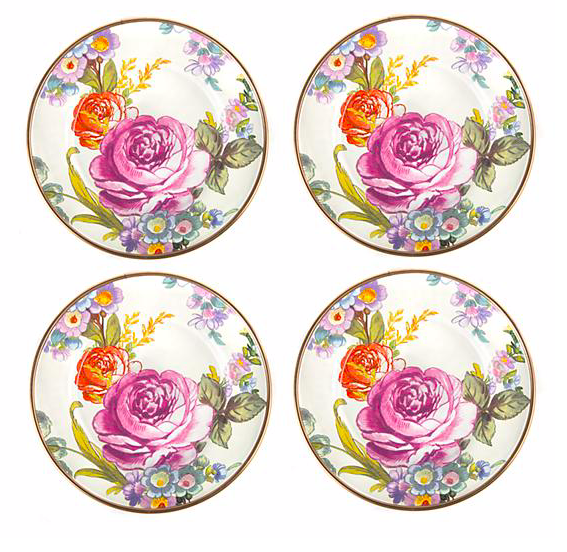Flower Market Canape Plate White