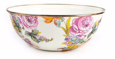 flower market medium everyday bowl- white