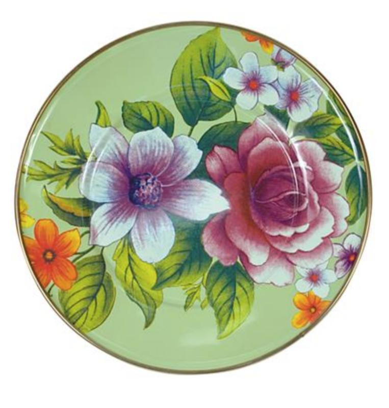 Flower Market Salad/Dessert Plate - Green