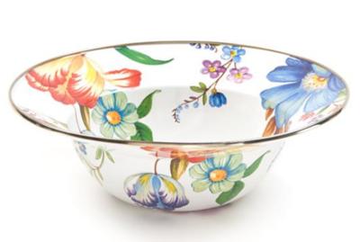 Flower Market Serving Bowl - White