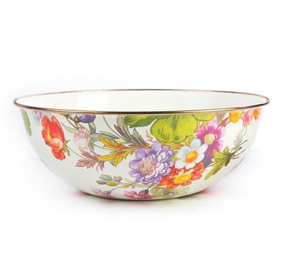 flower market extra large everyday bowl- white