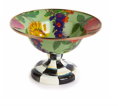 Flower Market Small Compote - Green