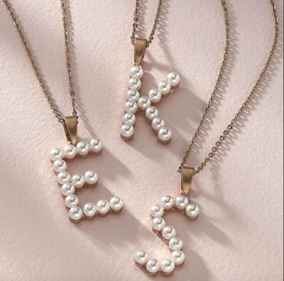 Fallon Pearl Initial Necklace