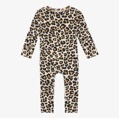 Lana Leopard - Ruffled Romper