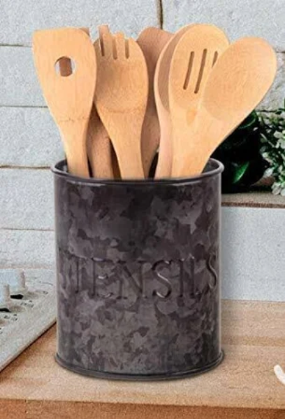 Black Galvanized Utensil Holder #86867
