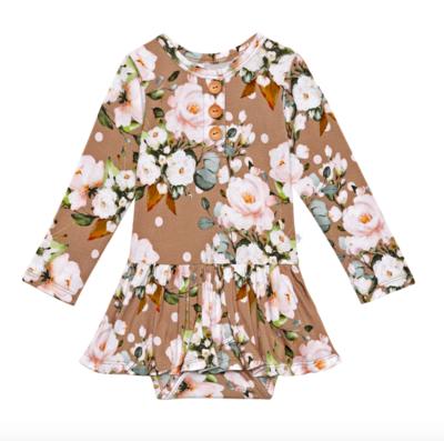 Leona - Long Sleeve Henley w/ Twirl Skirt
