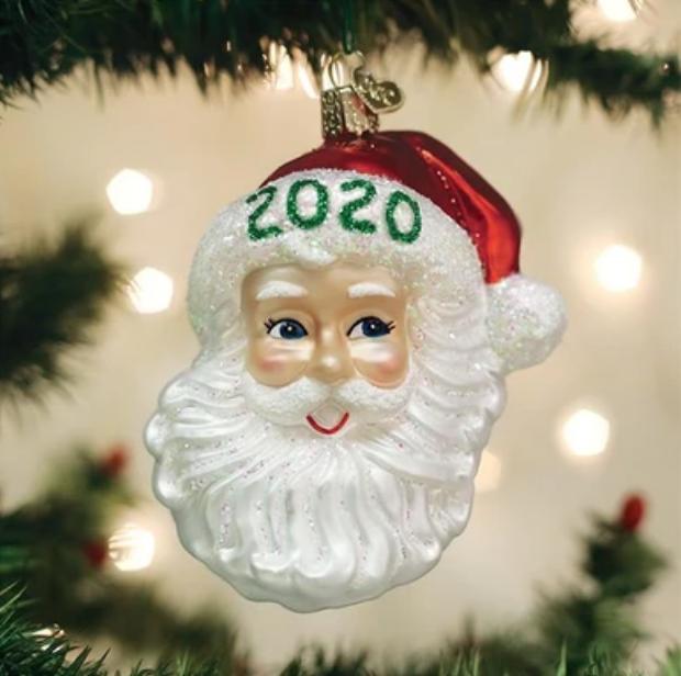 2020 Nostalgic Santa Ornament