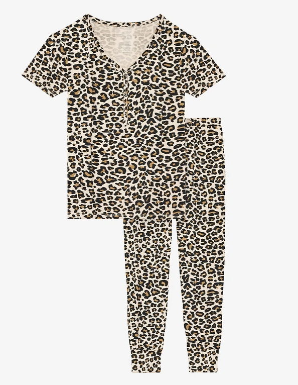 Lana Leopard  - Womens Short Sleeve Loungewear
