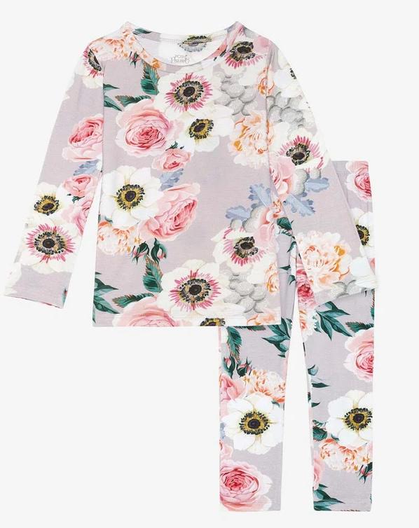 French Gray - Long Sleeve Basic Loungewear