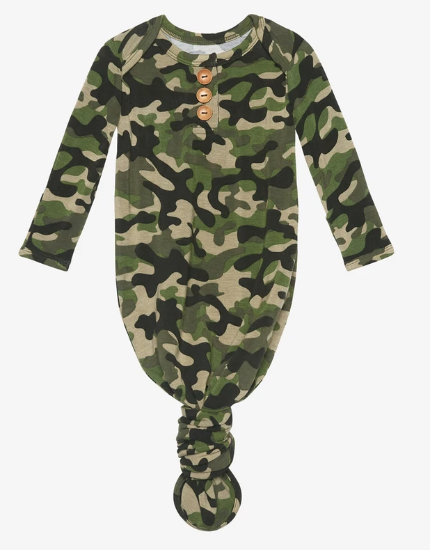 Cadet - Wood Button Knotted Gown