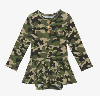 Cadet - Long Sleeve Henley w/ Twirl Skirt