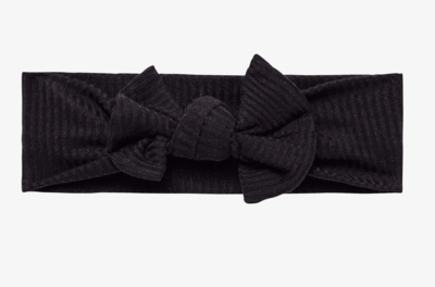 Ribbed Black - Infant Headwrap