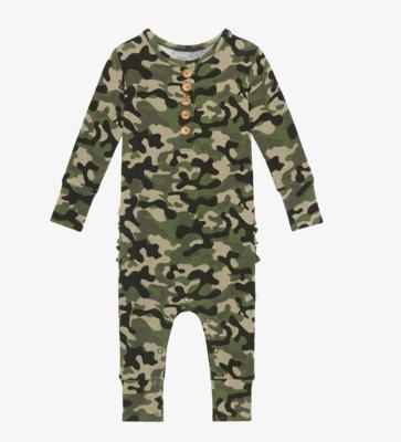 Cadet - Long Sleeve Ruffled Henley Romper